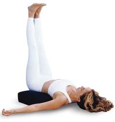 Legs-Up-the-Wall Yoga Pose (Viparita Karani) - This is restorative at any time of the day or evening; even helps with relaxation for bedtime. Yoga Poses For Sleep, Cool Yoga Poses, Yoga For Legs, Wall Yoga, Legs Up The Wall, Restorative Yoga Poses, Yoga Diet, Different Types Of Yoga, Yoga Lessons
