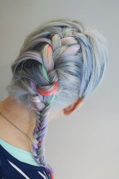 Braid with pastel colours - Saara Sarvas