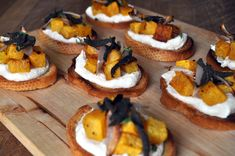 Butternut Squash, Ricotta and Fried Sage Crostini - Fall is finally ...
