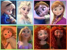 rapunzel anna and elsa - Google Search