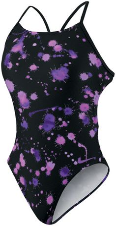 Nike Splatter Cut-Out Swim Team Suit - One Piece TFSS0001- 554
