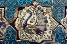 Tile from Kubadabad Palace - by Lake Beysehir, Ottoman Empir Turkish Art, Turkish Tiles, Pottery Patterns, Antique Tiles, Iron Work, China Painting, Ottoman Empire, Tile Art, Islamic Art