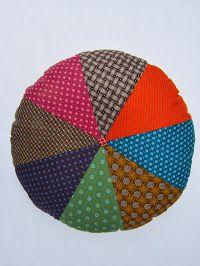 Shweshwe round floor pillow pouf
