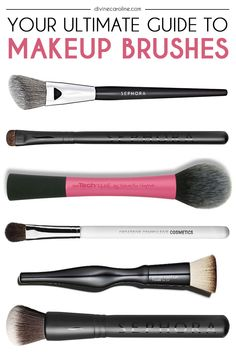 No one brush can do it all! Our beauty blogger will give you makeup brush bootcamp here. #makeup #beauty #makeupbrushes