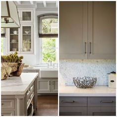 6 Shades of Gray for a Kitchen That is Anything but Boring White Kitchen Cabinets, Painting Kitchen Cabinets, Diy Kitchen, Kitchen Ideas, Glass Kitchen, Kitchen Designs, Kitchen Dining, Kitchen Decor, Wooden Countertops