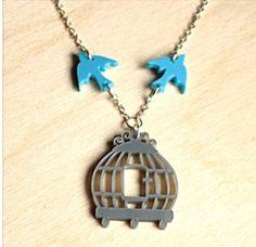 Sugarandvice online boutique Birdcage Necklace for £10