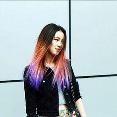 Insta-Stalking: Irene Kim, Model & Unicorn-Haired Goddess #refinery29  http://www.refinery29.com/irene-kim-model-instagram#slide2  Ombré like you've never seen before.