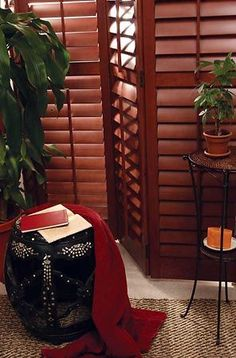 Experience the beauty of real wood shutters for your home.     Photo courtesy of Budget Blinds