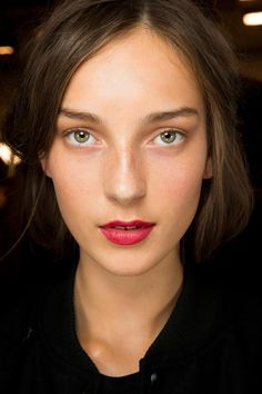Burberry Prorsum reinvents the classic red lip.