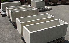 Merveilleux Concrete Planter Boxes In Bone | Ernsdorf Design