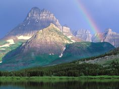 Swiftcurrent Lake, Glacier National Park, Montana.