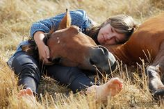 ...some of my most fond memories as a child were when we could crawl onto the backs of our sleeping horses out in the pasture; we were pleased if they stood up, but content to sit warm in the sun if they didn't. t.brule