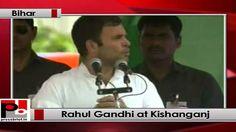 Congress Vice President Rahul Gandhi addresses election rally at Kishanganj, (Bihar).