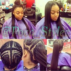 This versatile sew in by has the perfect foundation! It looks so neat and natural ✨ Sew In Hairstyles, My Hairstyle, Braided Hairstyles, Casual Hairstyles, Medium Hairstyles, Wedding Hairstyles, Sew In Braid Pattern, Braid Patterns, Versatile Sew In