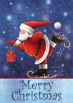 Skating Santa - Merry Christmas!*