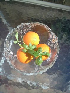 Beautiful vintage glass salad/serving bowl by spinnakerhillfarm, $40.00
