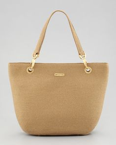 Squishee Clip Tote Bag, Natural by Eric Javits at Neiman Marcus.