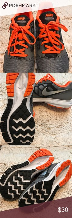 d9c4572ad58c9 Nike Downshifter 6 Boys Sneakers Size 7 Youth New Nike Downshifter 6 Boys  Sneakers Size 7 Youth New Never Worn Brand New Condition Orange Gray Black  Nike ...