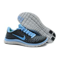 buy online 61fea 4cd25 Womens Black University Blue Pure Platinum Nike Free Running Shoes Discount  for Grils in Summer 2014