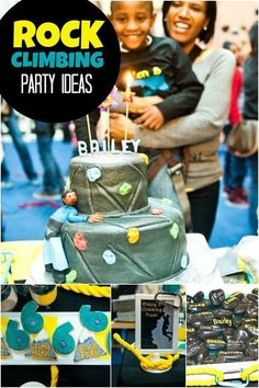 Boy's Rock Climbing Birthday Party Ideas