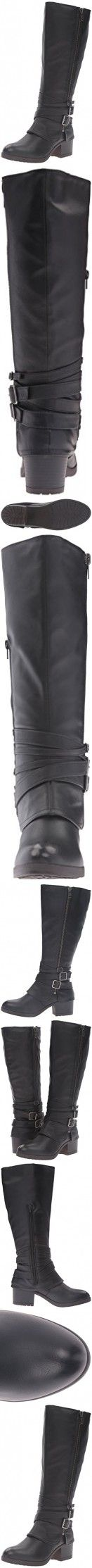 Madden Girl Women's Ratewc Wide Calf Riding Boot, Black Paris, 8.5 M US