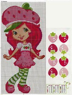 strawberries fragolina dolcecuore punto croce | Hobby lavori femminili - ricamo - uncinetto - maglia