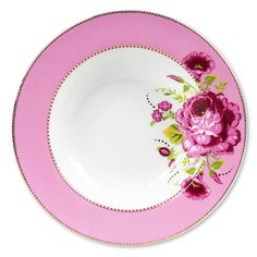 New Pip Studio 26.5cm pink pasta bowl - Shabby chic china