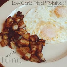 "Low Carb Fried Turnip ""Potatoes"""
