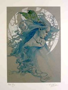BLUE FAY print by Ed Org  Artists UK