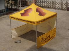 free design heat transfer printing pop up tent ,cheap outdoor canopy with side wall 4