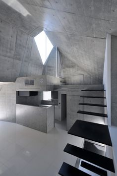 House in Abiko — located in Abiko, Japan. The 80-square-meter residence is a concrete monolith.