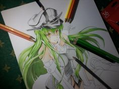 WIP C.C Code Geass on A3 Paper by FarhanAbdillah.deviantart.com on @DeviantArt