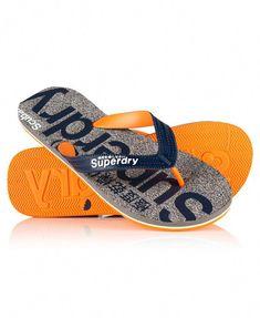 8ec3f56b0ba9 New Mens Superdry Scuba Marl Flip Flop Grey Fleck