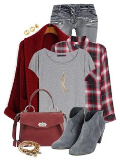 """""""Red & Grey"""" by tinayar ❤ liked on Polyvore featuring Balmain, Rails, Acne Studios, Proenza Schouler, Simply Vera, Lizzy James and BERRICLE"""