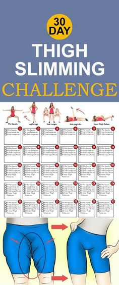 Get Fit | 30 Day Workout Challenge For Slimming Thighs