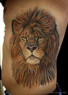 db6ef1d8b Lion Face Tattoo · Another one of the crazy intricate designs we have  found. Leo Lion Tattoos, Mens