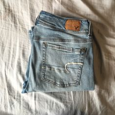 American Eagle boot jeans Has a classic boot cut. Super stretch material and very comfy. Only worn a few times. American Eagle Outfitters Jeans Boot Cut