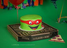 Teenage Mutant Ninja Turtle smash cake for a photo session with Lorene Photography.