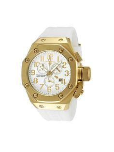 Swiss Legend Watches Men's Trimix Diver White & Gold Watch