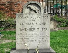 Edgar Allan Poe's Headstone Westminster Burying Ground, Baltimore