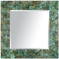 Blue Crackle Mother-of-Pearl Mirror