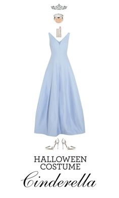 """Cinderella"" by haineni ❤ liked on Polyvore featuring Halston Heritage, Schutz, By Terry, Kate Marie, Christian Dior, halloweencostume and DIYHalloween"