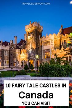 10 Fairy Tale Castles in Canada You Can Visit, or even enjoy a luxury stay where you'll be treated like a King or Queen! The Places Youll Go, Cool Places To Visit, Places To Travel, Places To Go, Montreal, Vancouver, Stay In A Castle, Canada Destinations, Visit Canada