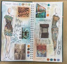 Fashion portfolio moodboard textiles sketchbook 20 ideas
