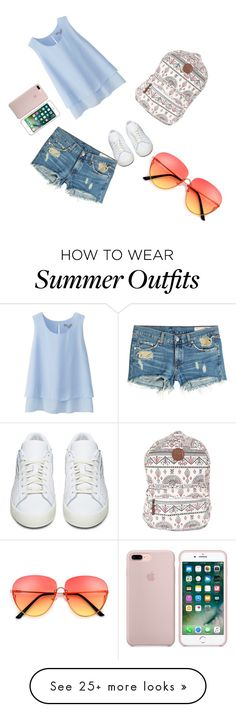 """""""My First Polyvore Outfit"""" by camdawg on Polyvore featuring Uniqlo, Billabong, adidas Originals and rag & bone"""
