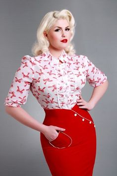 Love this outfit especially the fiery red skirt..I need to be more daring in my wardrobe!!!