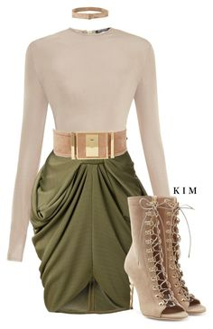 """Untitled #3151"" by kimberlythestylist ❤ liked on Polyvore featuring Balmain"