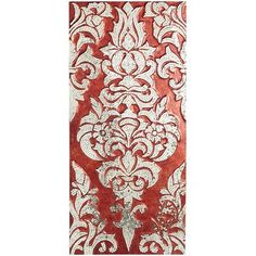 Mirrored Damask Panel - Red (this photo doesn't do the panel justice - it's a deeper red and the silver has more sparkle)