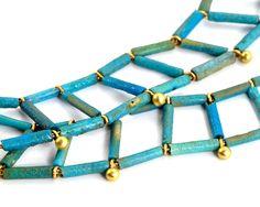 An Egyptian Faience Necklace, New Kingdom, 18th Dynasty, 1550 - 1295 BC