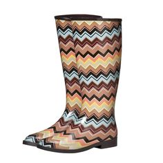 Like I wasn't obsessed enough with galoshes before -- now I see these Missoni for Target galoshes?  Done.  Done and done.  I NEED THEM.